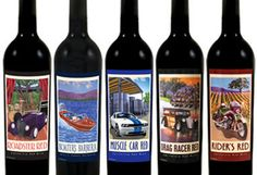 "WINE ON WHEELS  Though we'd never condone drinking and driving, giving your Special car enthusiast a Classic Car Wine is perfectly appropriate. The card can read: ""To a true classic."" Classic Car Wines in Sonoma Valley California offers eight designs with painted artwork with fun kitchy names like Roadster Red, Panel Wagon Pinot and Woody White. There's also a Rider's Red for vintage motorcycle enthusiasts. ($15 to $22)"