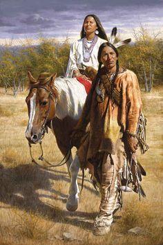 Pinturas realísticas dos índios norte americanos