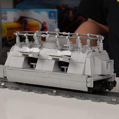 Lego Technic Truck, Lego Models, Panzer, Legos, Train, Lego Military, Army, Lego, Strollers