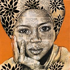 Saida, cute Afar girl drawn in Ethiopia
