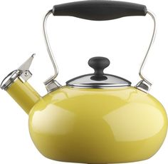 Chantal® Yellow Bridge Teakettle. With my Parma Grey Kitchen. Mmmm
