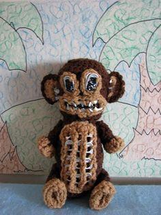 Crochet Pattern Scary Monkey A Pop Tab by DonnasCrochetDesigns, $3.99