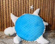 Nautical pillows, sea life plushies, novelty pillows by Fleeceofnature Nautical Baby Nursery, Nautical Pillows, Nautical Home, Turtle Pattern, Chenille Bedspread, My Home Design, Beach Cottage Decor, Hallway Decorating, Plush Animals