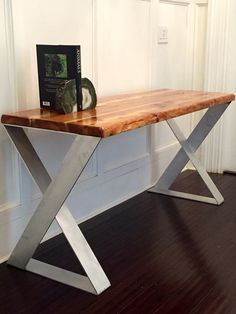 SALE! Wood Desk with Reclaimed Wood Top - Designer Aluminum Legs