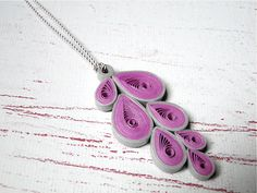Pendant, teardrop, simple, grey, purple.
