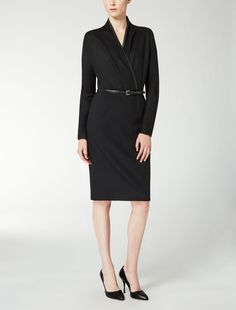 Max Mara GALLICO negro: Vestido de jersey de lana. Find your outfit on the Official Max Mara Website and discover all that is new in ready-to-wear.