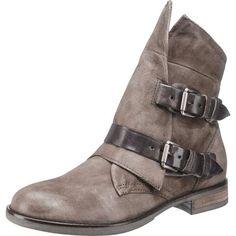 #MJUS #Damen #Stiefeletten #grau Im kernigen Look wurden diese MJUS Stiefeletten aus Echtleder gestaltet. Die Schnallen lassen sich bei Bedarf verstellen und sorgen somit für eine optiHerren Passform.