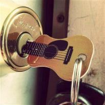 Playing the guitar...key to my heart