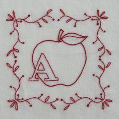 Redwork Alphabet Series