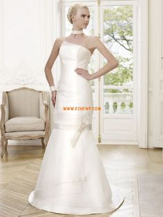 Court Train Summer Sleeveless Wedding Dresses 2014