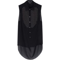 ELIZABETH AND JAMES Misaki Studded Top ($409) ❤ liked on Polyvore featuring tops, blouses, shirts, blusas, studded blouse, elizabeth and james top, urban shirts, elizabeth and james blouse and elizabeth and james shirt