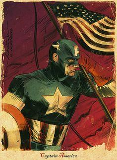 Captain America sketch by MitchBreitweiser. October, 2008.