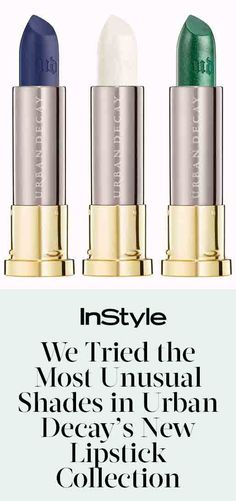 Navy Lipstick? Yep, We Tried the Most Unusual Shades in Urban Decay's New Collection from InStyle.com