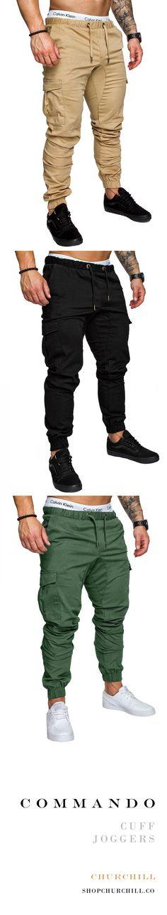 Commando: Ankle Cuff Jogger Pants Cuffed Joggers, Mens Joggers, Jogger Pants, Gents Fashion, Fashion Wear, Look Fashion, Pure Clothing, Teen Boy Fashion, Future Clothes