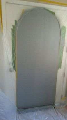 Faux door in primer
