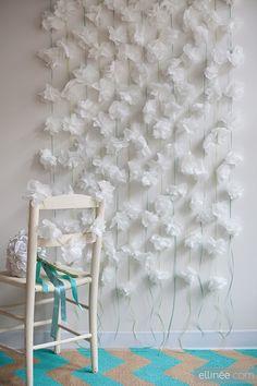 DIY PAPER NAPKIN FLOWER GARLAND + TUTORIAL