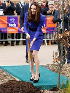 Ceremonial tree planting for the opening of a children's hospice.