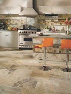 Find all flooring styles including hardwood floors, carpeting, laminate, vinyl and tile flooring. Get the best flooring ideas and products from Mohawk Flooring. Mohawk Flooring, Stone Flooring, Kitchen Flooring, Kitchen Backsplash, Kitchen Decor, Kitchen Design, Ceramic Floor Tiles, Porcelain Tile, Flooring Options