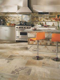 Kitchen With Ceramic Tile Flooring | HGTVRemodels.com