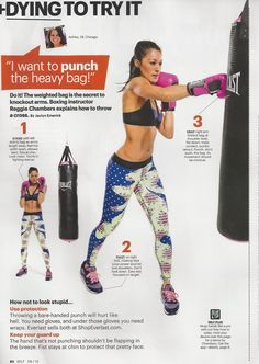 How to throw a proper punch on a punching bag from Reggie Chambers in Self magazine.