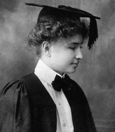 In 1904, at the age of 24, Keller graduated cum laude from Radcliffe College, becoming the first deaf-blind person to earn a Bachelor of Arts degree.