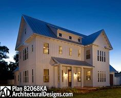 Two Master Suites And Outdoor Living - 82068KA   Country, Farmhouse, Florida, Southern, Photo Gallery, 1st Floor Master Suite, 2nd Floor Master Suite, CAD Available, Elevator, MBR Sitting Area, Media-Game-Home Theater, PDF   Architectural Designs