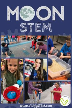 Lunar STEM Activities for the Anniversary of the Apollo Moon Landing — Vivify STEM - Vivify STEM Activities - Whether you remember the Apollo 11 mission or have only seen pictures, the feat of landing on the mo - Space Activities For Kids, Moon Activities, Steam Activities, Science Activities, Science Books, Science Ideas, Group Activities, Computer Science, Stem Science