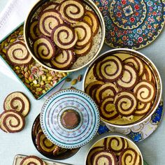 Try our pinwheel cookie swirl recipe. These Pistachio pinwheel cookies are quick and easy to bake. Pinwheel recipes are super fun for a tea party Biscuit Cookies, Biscuit Recipe, Pinwheel Cookies, Pinwheel Recipes, Almond Paste, Galletas Cookies, Pumpkin Cookies, Baking Recipes, Tea Recipes