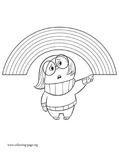 Sadness is one of the emotions that controls Riley. Have fun with this awesome printable Disney Inside Out coloring page!