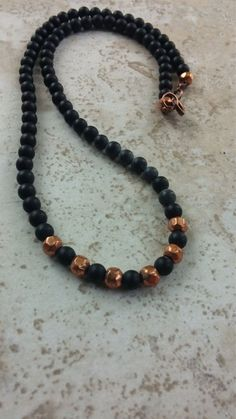 Men's Necklaces Black Onyx Choker Necklace by AyanaGlazeJewelry