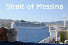 Heading south to explore sicily. The Strait of Messina is the narrow passage between the eastern tip of Sicily and the western tip of Calabria in the south of Italy. It connects the Tyrrhenian Sea to the north with the Ionian Sea to the south, within the central Mediterranean.  #iwantanitaliancoffee #iwantanitalianespresso #messina www.espressoland.com.au