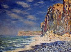 Claude Monet Cliff Near Fecamp oil painting reproductions for sale