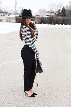 winter sweater crop top and zara shoes