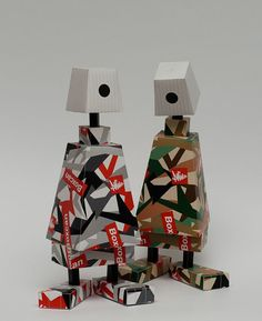 Paper Toys, Paper Crafts, Paper Design, Behance, Canning, Cubes, Box, Pasta, Collection