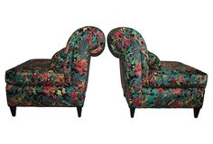 Armless Scrollback Slipper Chairs, Pair on OneKingsLane.com