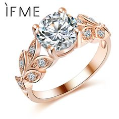 Double Layer Set Ring 2Pcs//Set Charm Rose Gold Inlay Rectangle Trendy Crystal