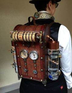 I made this for this year's Steampunk World's Fair which just passed in May. I also made a Steampunk rifle which I will be writing about in a separate post. So I got the idea for this backpack a wh… Stylish Fashinable walking sticks canes for gentleman Steampunk Cosplay, Viktorianischer Steampunk, Design Steampunk, Steampunk Clothing, Steampunk Weapons, Steampunk Outfits, Steampunk Necklace, Steampunk Machines, Steampunk Drawing