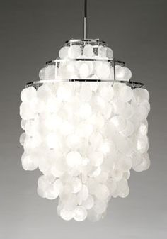 sea shell chandelier  Can I do something like this with jingle shells
