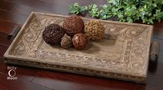 Camillus Wood Framed Decorative Tray traditional cabinet and drawer organizers Barn Wood Picture Frames, Ottoman Tray, Decor, Decorative Tray, Uttermost Furniture, Home Accessories, Rustic Wall Decor, Tuscan Decorating, Camillus