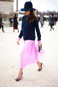 Caroline Sieber in one of my favorite looks to ever walk thru les Tuileries