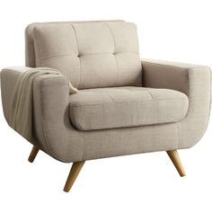 Joss and Main.  Eleanor Tufted Arm Chair.