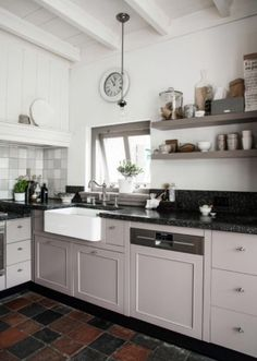 "This great kitchen is from our feature ""Basic Instinct"""