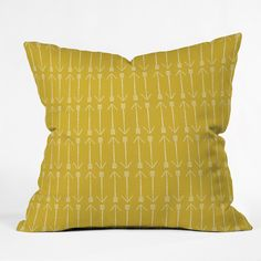 Allyson Johnson Chartreuse Arrows Outdoor Throw Pillow | DENY Designs Home Accessories