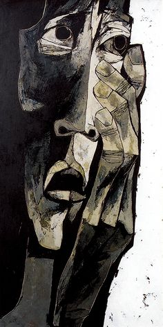 Mother #1,Oil painting, Fabrics, 1969 Oswaldo Guayasamín