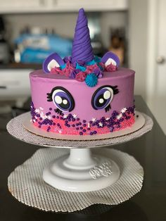 Twilight Sparkle My Little Pony Cake. What's your favorite My Little Pony?    #cake #buttercream #fondant #mylittleponycake #birthdaycake #birthday #twilightsparkle #mylittlepony #cakedecorator #decoratedcake #desmoines #desmoinesiowa #yum #thesweetestthing