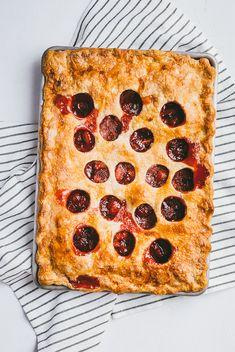 Strawberry ginger polka dot slab pie