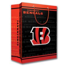 NFL Cincinnati Bengals Gift Bag, Medium * Check this awesome product by going to the link at the image. Teacher Discounts, Dealing With A Narcissist, Cincinnati Bengals, Discount Universe, Girls Sweaters, Gift Bags, Mens Tees, Shirts For Girls, Budgeting