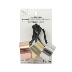 Buy the Metal Hair Bands By Bead Landing™ at Michaels.com. Add flair to your ponytail with these metal hair bands by Bead Landing.