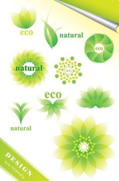 ECO Friendly Green Symbol Set Vector 06