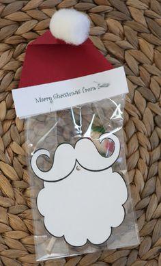 like a pretty petunia: Santa Hat Bag Toppers
